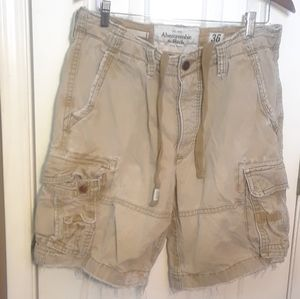 NWOT 36 ABERCROMBIE FITCH MENS CARGO SHORTS DISTRE